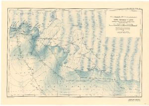 Australasian Antarctic Expedition : King George V Land showing tracks of the Eastern Sledging Parties from the Main Base