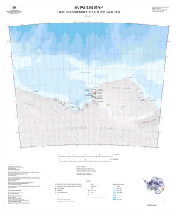 Aviation Map: Cape Peremennyy to Totten Glacier