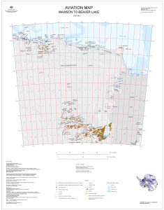 Aviation Map: Mawson to Beaver Lake