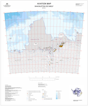 Aviation Map: Shackleton Ice Shelf