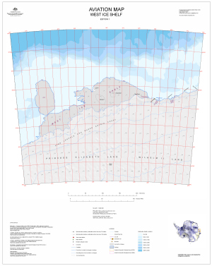 Aviation Map: West Ice Shelf