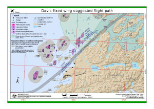 Davis fixed wing suggested flight path
