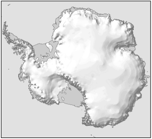Antarctica with hill shading [Black and white]