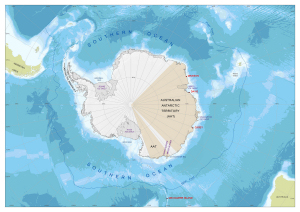 Antarctica and the Southern Ocean : illustrating Australian Antarctic Territory for the AAT 75th anniversary poster