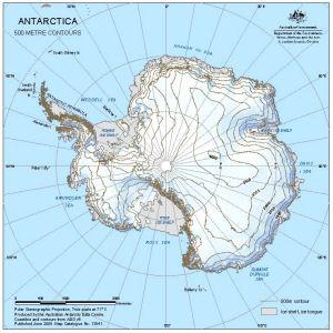 Antarctica : 500 metre contours