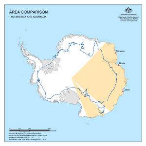 Antarctica Map Catalogue AADC - Antarctica political map