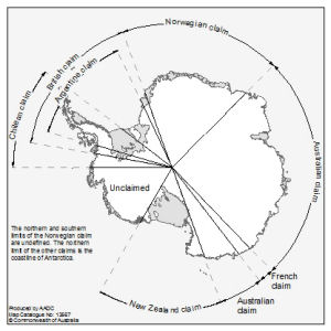 Antarctica: Territorial Claims [Black and white]