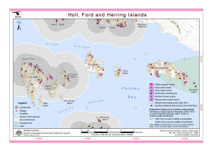 Holl, Ford and Herring Islands (Helicopter Operations)