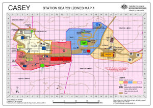 Casey: Station Search Zones Map 1
