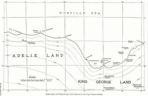 Adelie Land and King George Land adjacent to the Cape Denison station