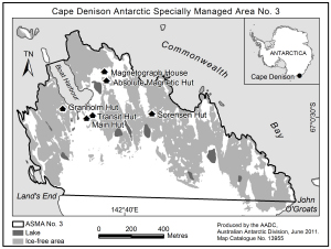 Cape Denison Antarctic Specially Managed Area No. 3