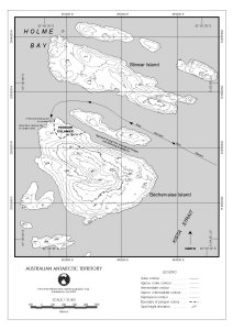 Bechervaise Island topographical map