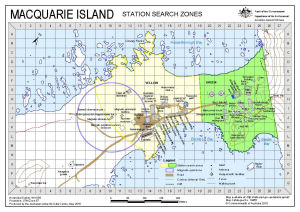 Macquarie Island: Station Search Zones