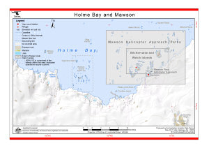 Holme Bay and Mawson (Helicopter Operations)