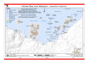 Holme Bay and Mawson - separation distances (Helicopter Operations)