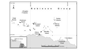 Adelie penguin presence in the Robinson Group