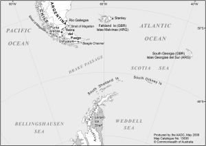 Tip Of South America Map.Black And White Maps For Publications Map Catalogue Aadc
