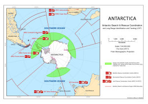 Antarctica : Antarctic Search and Rescue Coordination and Long Range Identification and Tracking (LRIT)