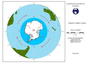 Antarctic weather systems