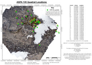 ASPA 135 Quadrat Locations
